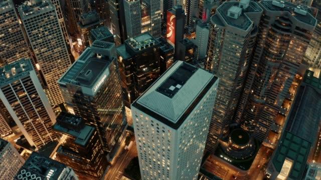 hong kong city skyline at night - central district hong kong stock videos & royalty-free footage