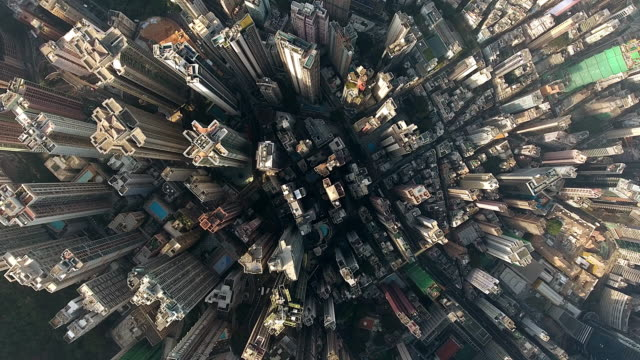 hong kong city - drone point of view stock videos & royalty-free footage