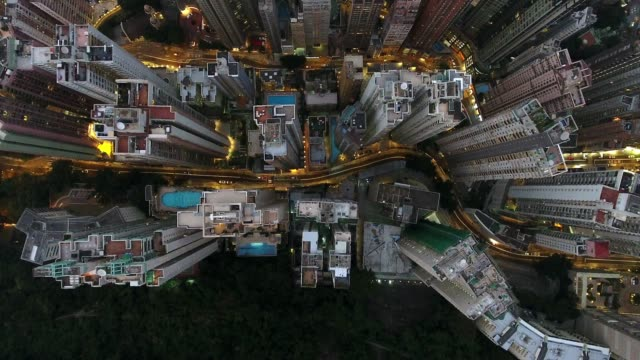 hong kong city - population explosion stock videos and b-roll footage