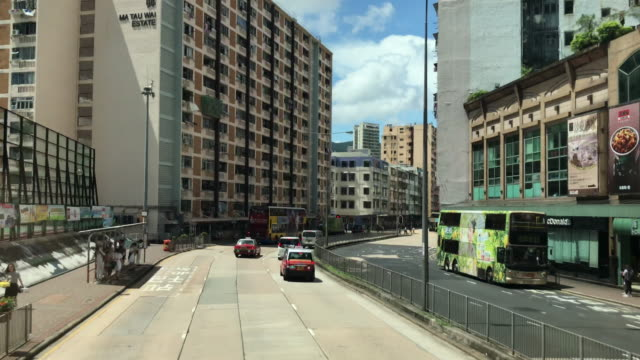 hong kong cityscape - ma tau wai estate east kowloon - housing development stock videos & royalty-free footage