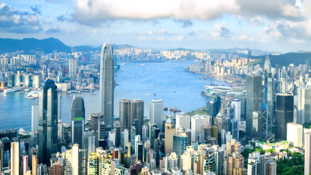 hong kong cityscape - victoria peak stock videos & royalty-free footage