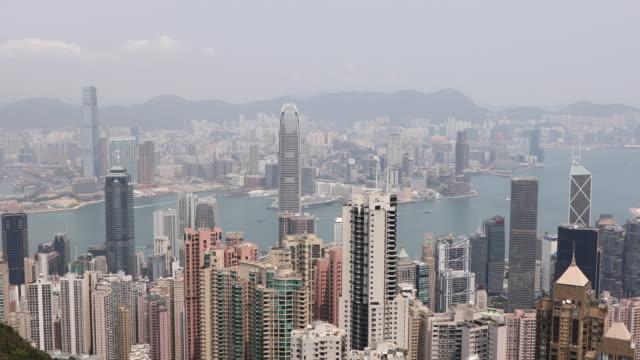 hong kong cityscape,china - ビクトリアピーク点の映像素材/bロール