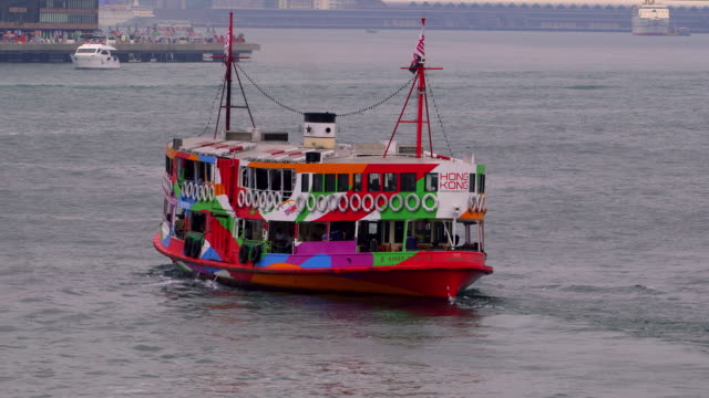 stockvideo's en b-roll-footage met hong kong ferries - star ferry