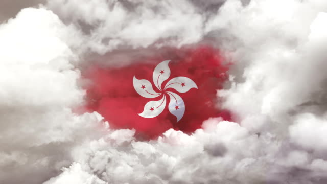 hong kong flag - 4k resolution - hong kong flag stock videos & royalty-free footage