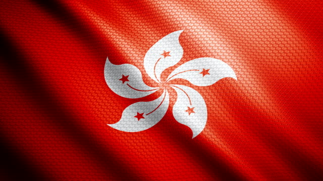 hong kong flag 4k - hong kong flag stock videos & royalty-free footage
