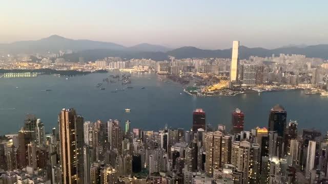 vidéos et rushes de hong kong harbour - île de hong kong