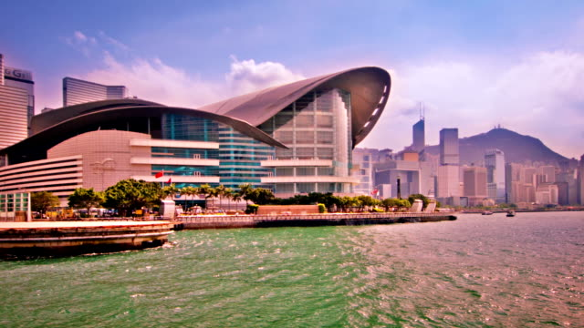 stockvideo's en b-roll-footage met hong kong harbour - star ferry