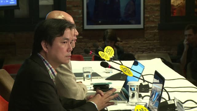 hong kong hedge fund manager edward chin a wealthy backer of the occupy central movement that has threatened civil disobedience hits out at media... - censorship stock videos and b-roll footage