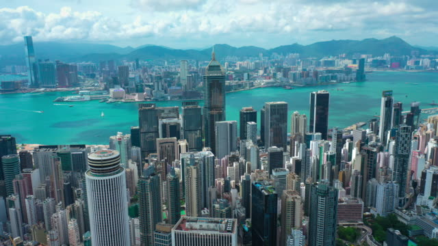 hong kong hyper lapse - skyline stock videos & royalty-free footage