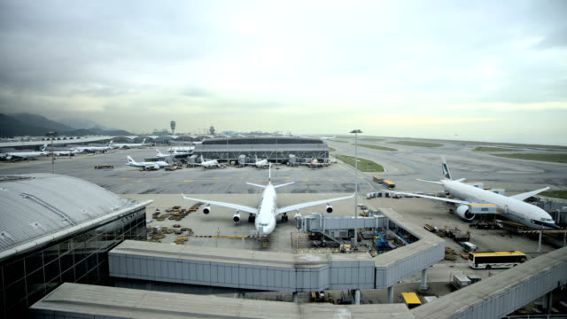 hong kong international airport chek lap kok china - hong kong international airport stock videos & royalty-free footage