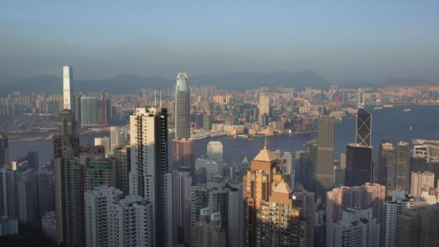 stockvideo's en b-roll-footage met ws hong kong island cityscape skyline - hongkong eiland