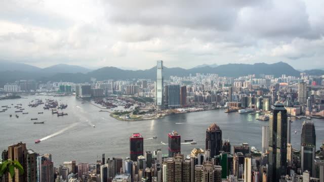 Hong Kong Island cityscape skyline