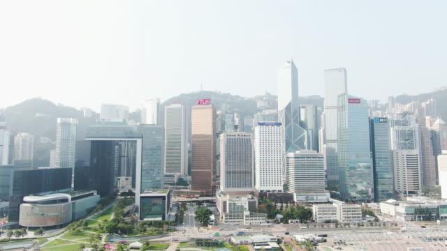 hong kong island skyline - hong kong island stock videos & royalty-free footage