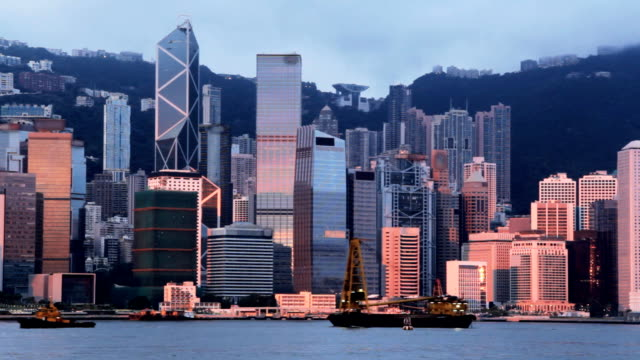 hong kong island - victoria harbour hong kong stock videos and b-roll footage