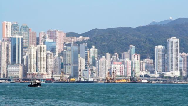 hong kong island - hong kong island stock videos & royalty-free footage