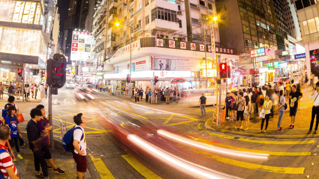 hong kong kowloon in timelapse - 2013 stock videos & royalty-free footage