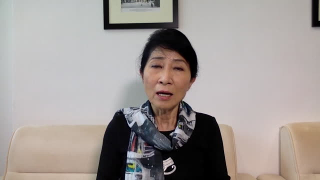 """hong kong legislator claudia mo saying china's new legislation means beijing """"is not just getting more power, it's getting total absolute power over... - legislator stock videos & royalty-free footage"""