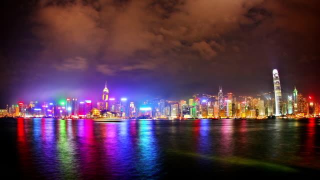 vídeos y material grabado en eventos de stock de espectáculo de luces en hong kong - láser médico