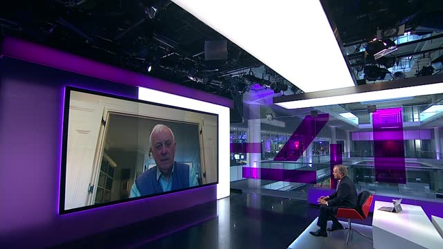 media tycoon jimmy lai and others jailed for part in pro-democracy protests; england: int lord patten of barnes interview via internet sot. cutaways... - politics stock-videos und b-roll-filmmaterial
