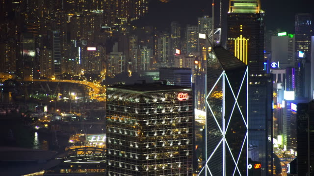 hong kong night - wanchai stock videos and b-roll footage