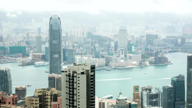 hd: hong kong panorama - hong kong island stock videos & royalty-free footage
