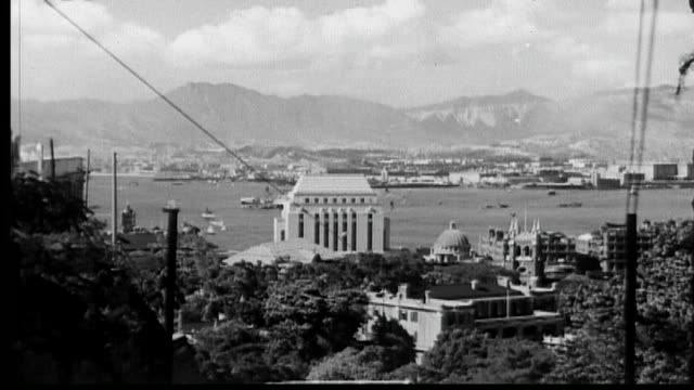 1938 hong kong peak tram - tram stock videos & royalty-free footage