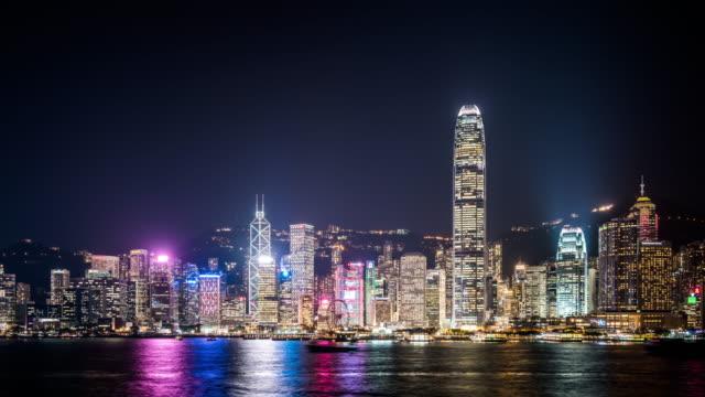 T/L WS ZI Hong Kong Skyline at Night / Hong Kong, China