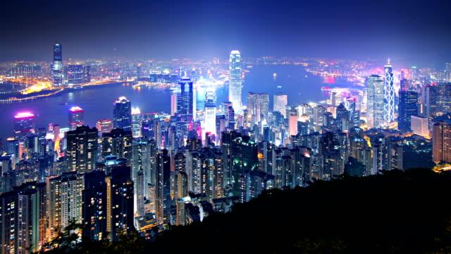 Hong Kong Skyline Time Lapse