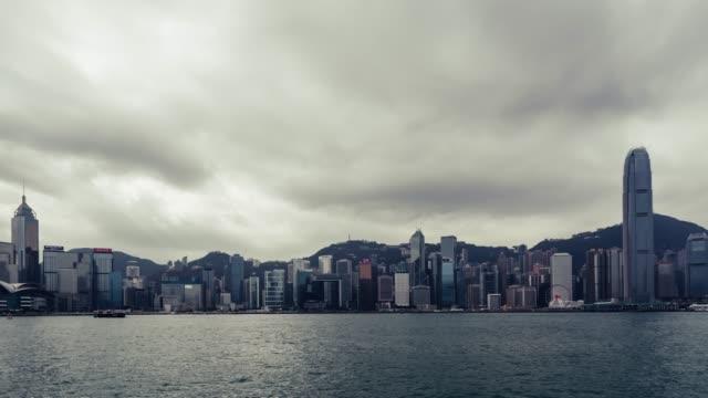 t/l td hong kong skyline - berg victoria peak stock-videos und b-roll-filmmaterial