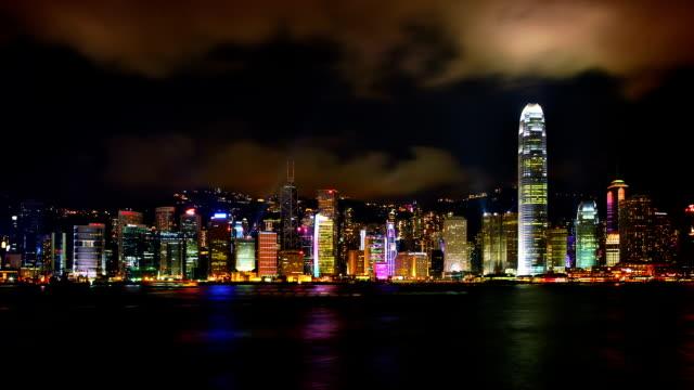 skyline von hongkong. - insel hong kong island stock-videos und b-roll-filmmaterial