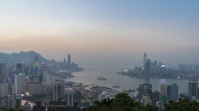 vidéos et rushes de ville de hong kong  - île de hong kong