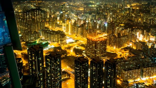 stockvideo's en b-roll-footage met tl hong kong skyline uitzicht vanaf sky 100 observatie dek, hong kong - hong kong