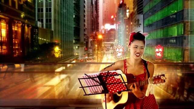 hong kong street artist queen time-lapse - singer stock videos & royalty-free footage