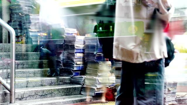 タイムラプス-香港通りの生活
