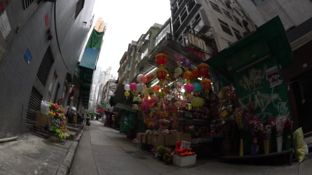 stockvideo's en b-roll-footage met hong kong street - groothoek