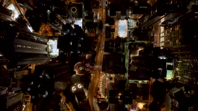 hong kong streets from above - wanchai stock videos and b-roll footage
