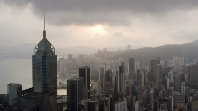 hong kong sunrise - wanchai stock videos and b-roll footage