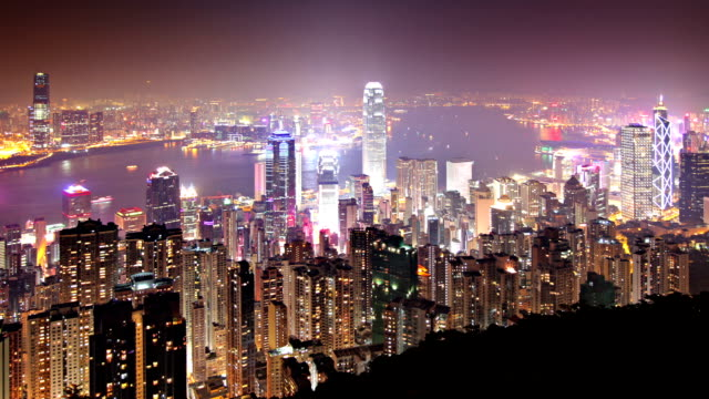 hong kong time lapse - victoria peak stock videos & royalty-free footage
