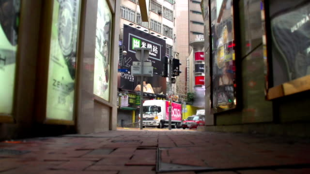 hong kong time square pathway time-lapse - times square causeway bay stock videos & royalty-free footage