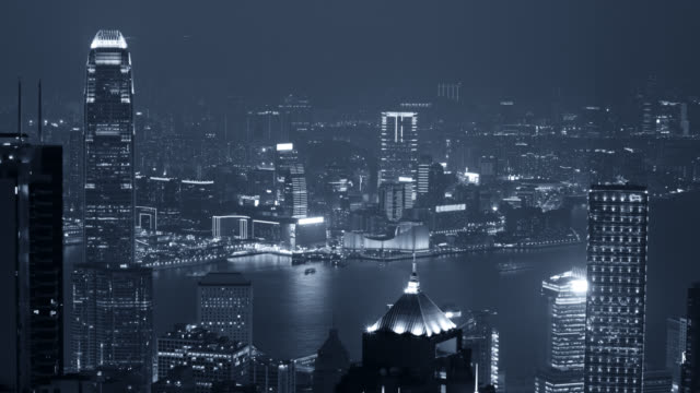 Hong kong timelapse of from Victoria peak