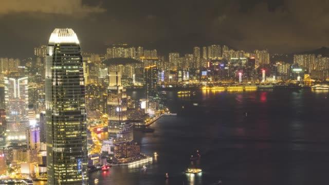 hong kong timelapse - hong kong island stock videos & royalty-free footage