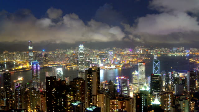 hong kong  timelapse - passenger craft stock videos & royalty-free footage