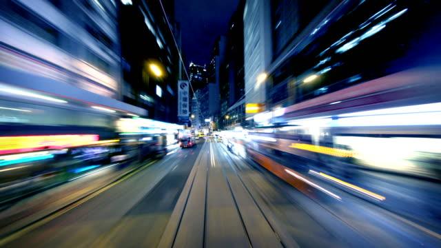 vidéos et rushes de hong kong tramway timelapse - amélioration