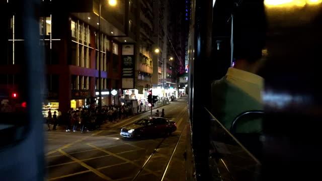 vidéos et rushes de tramway de hong kong - ligne de tramway