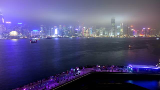 hong kong tsim sha tsui promenade victoria harbour - tsim sha tsui stock videos & royalty-free footage