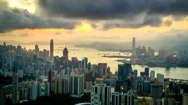 Hong Kong Urban City Sunset