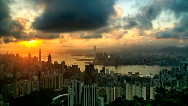 Hong Kong Urban City Sunset