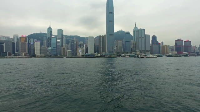 Hong Kong Victoria harbor hyper lapse from star ferry