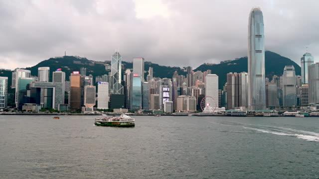 hong kong victoria harbour - hong kong island stock videos & royalty-free footage