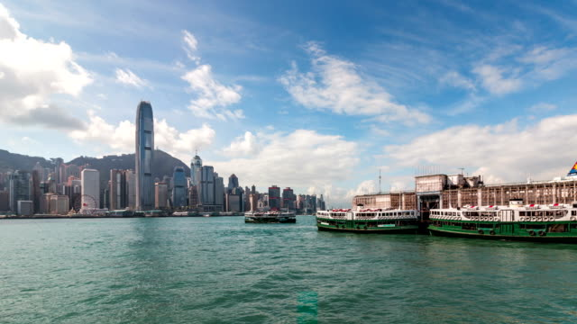 4K TL Hong Kong Victoria Peak and Star Ferry City scenery